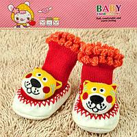 Пинетки для новорожденных красные тигр Djan F11-5 6-12-R