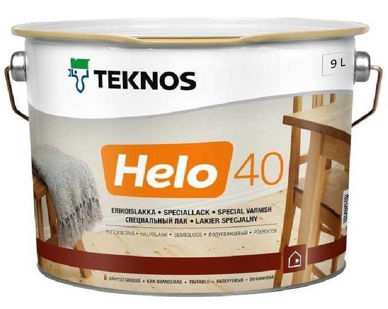 Лак уретан-алкидный TEKNOS HELO 40 яхтовый полуглянцевый 9л
