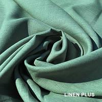 Оливково-зеленая льняная ткань 100% лен., цвет 138