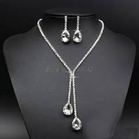 Свадебная бижутерия колье ожерелье и серьги украшения свадебные аксессуары