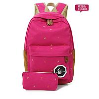 Стильный  рюкзак в мелкий цветах с пеналом