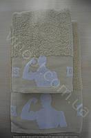 Махровые полотенца банные эксклюзивные фитнес ! 2 штуке в упаковке ( 70х140 и 50х90 см)Белый