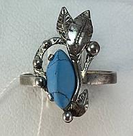 Кольцо с бирюзой серебро 925 проба