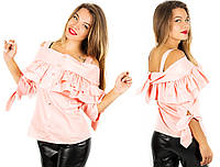 Розовая блуза 15377