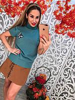 Красивый свитерок с бабочкой