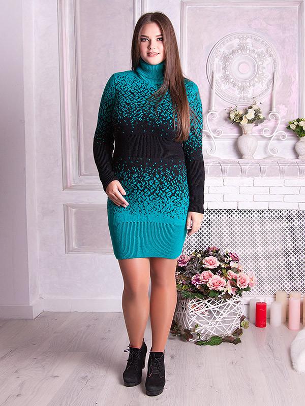вязаные платья туника леопард 596 р 48 58 цена 430 грн купить в