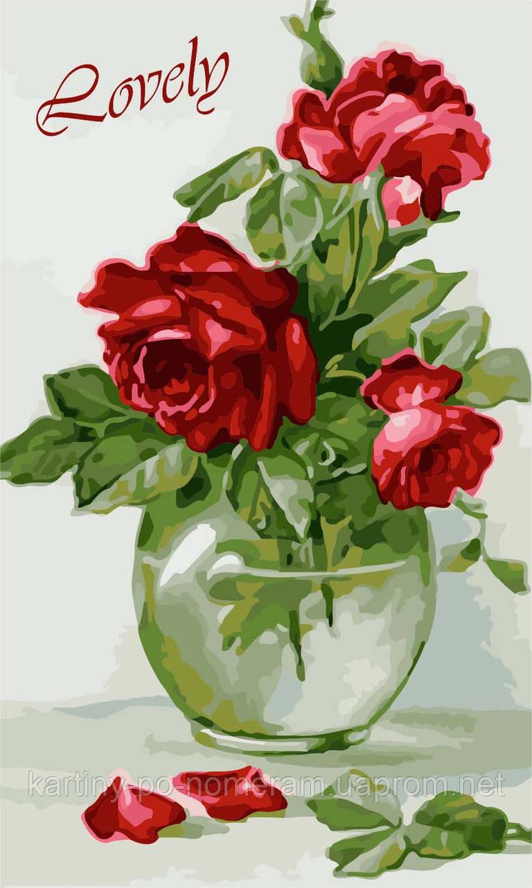 Картина по номерам KH2091 Чувственные розы (30 х 50 см) Идейка