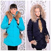 Детский пуховик для девочки | Теплая куртка на зиму