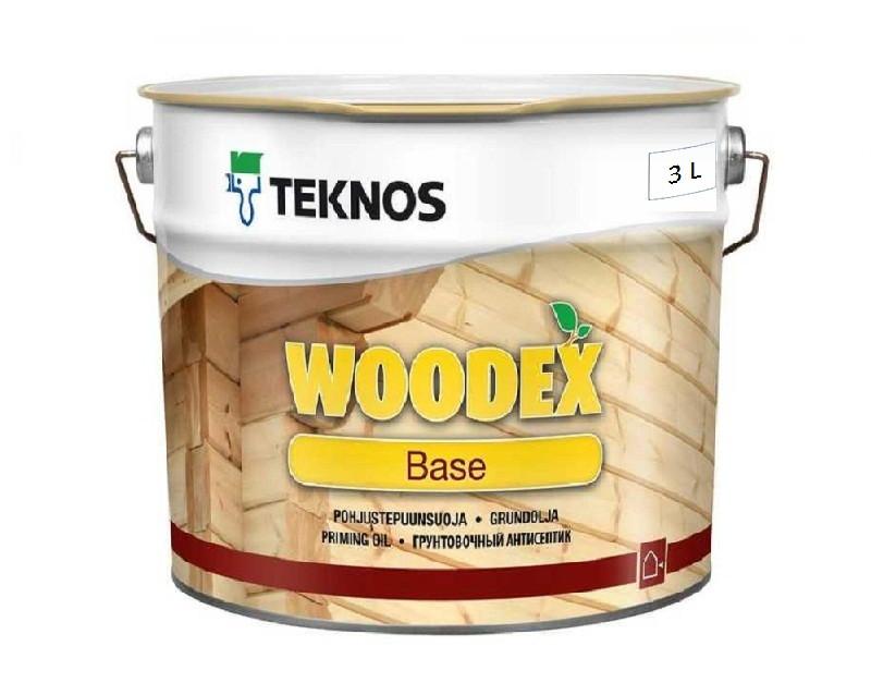Грунтовка антисептическая TEKNOS WOODEX BASE для древесины 3л