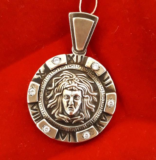 Подвеска Медуза Горгона серебро 925 фото 1