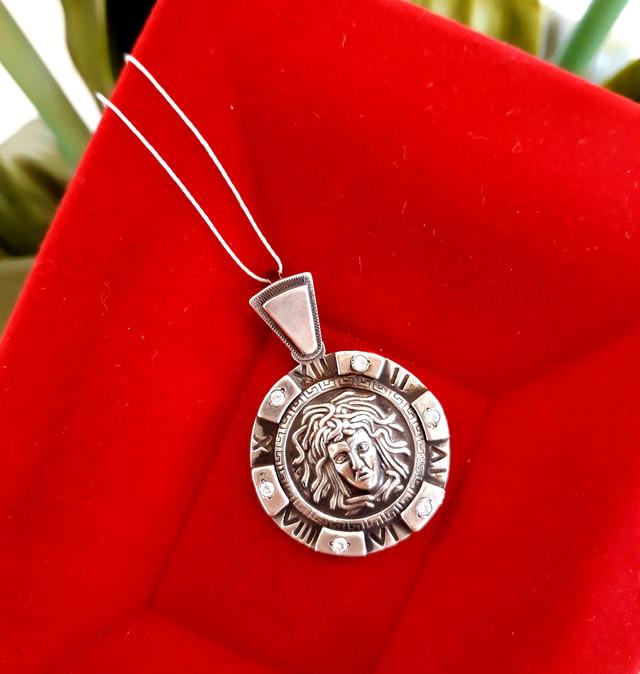 Подвеска Медуза Горгона серебро 925 фото 2