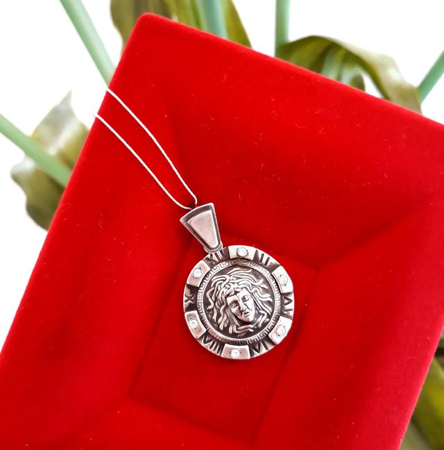 Подвеска Медуза Горгона серебро 925 фото 4