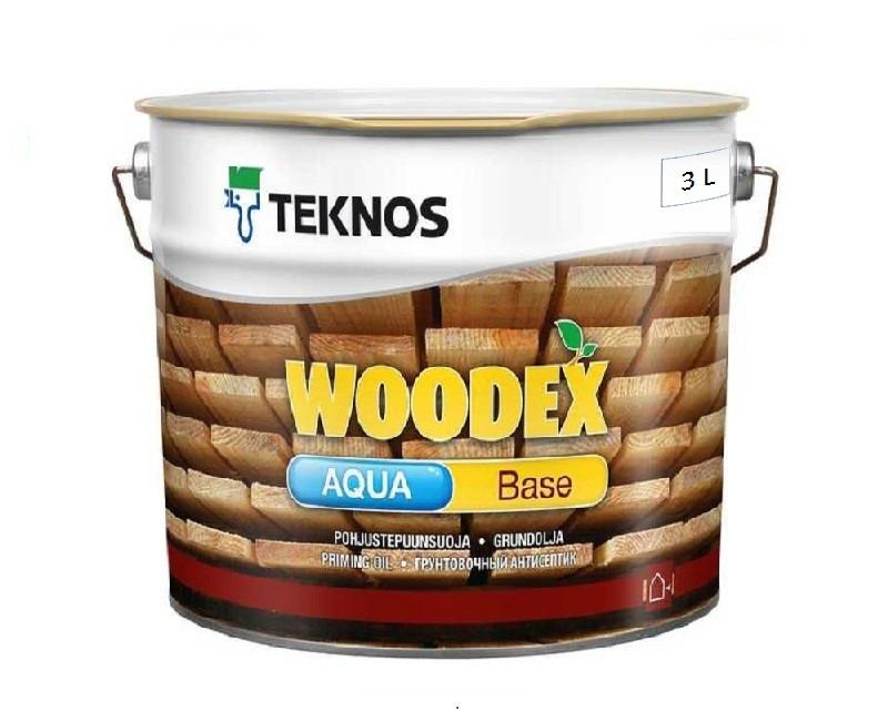 Грунтовка антисептическая TEKNOS WOODEX AQUA BASE для древесины 3л