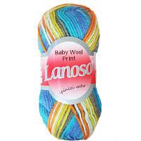 Пряжа Lanoso Baby Wool Print 6100