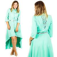 Мятное платье 15382, батал