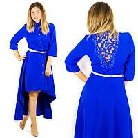 Синее платье 15382, батал