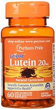 Вітаміни для очей, лютеїн, Puritan's Pride Lutein 20 mg with Zeaxanthin 60 Softgels