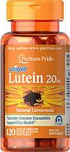 Вітаміни для очей, Лютеїн ,Puritan's Pride Lutein 20 mg with Zeaxanthin 120 Softgels