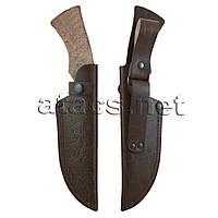 Кожаный чехол с тиснением №2 (коричневый)
