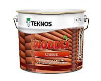 Лазурь-лак антисептический TEKNOS WOODEX CLASSIC для древесины 2,7л