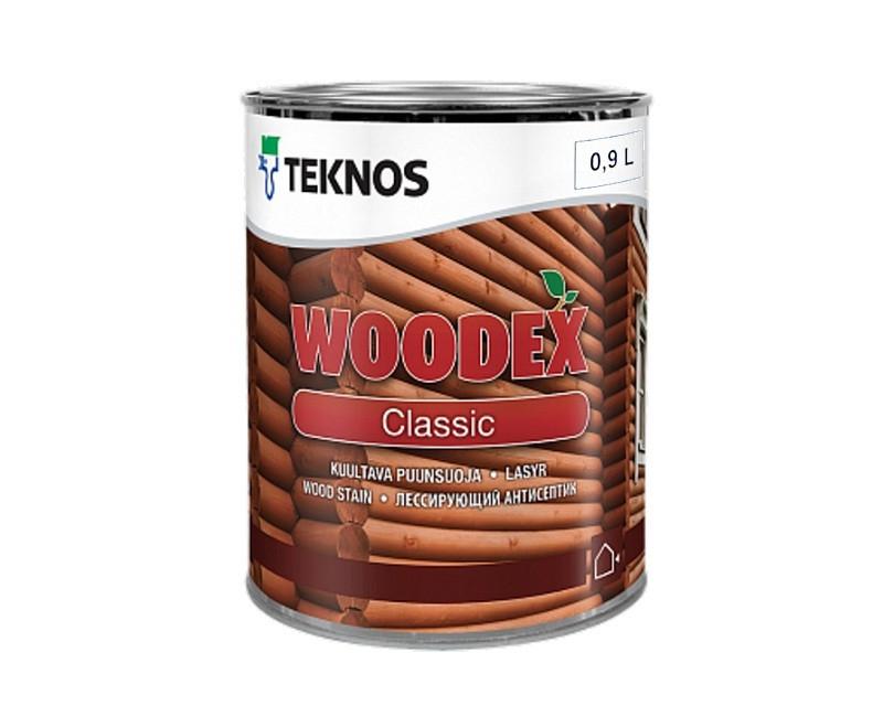 Лазурь-лак антисептический TEKNOS WOODEX CLASSIC для древесины 0,9л