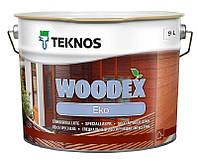 Лазурь-лак антисептический TEKNOS WOODEX EKO для древесины 9л
