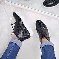 Ботинки женские Raptile черные лак 3587, ботинки женские