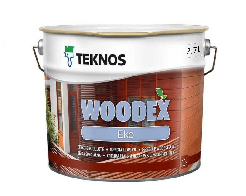 Лазурь-лак антисептический TEKNOS WOODEX EKO для древесины 2,7л