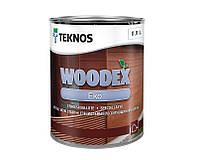 Лазурь-лак антисептический TEKNOS WOODEX EKO для древесины 0,9л