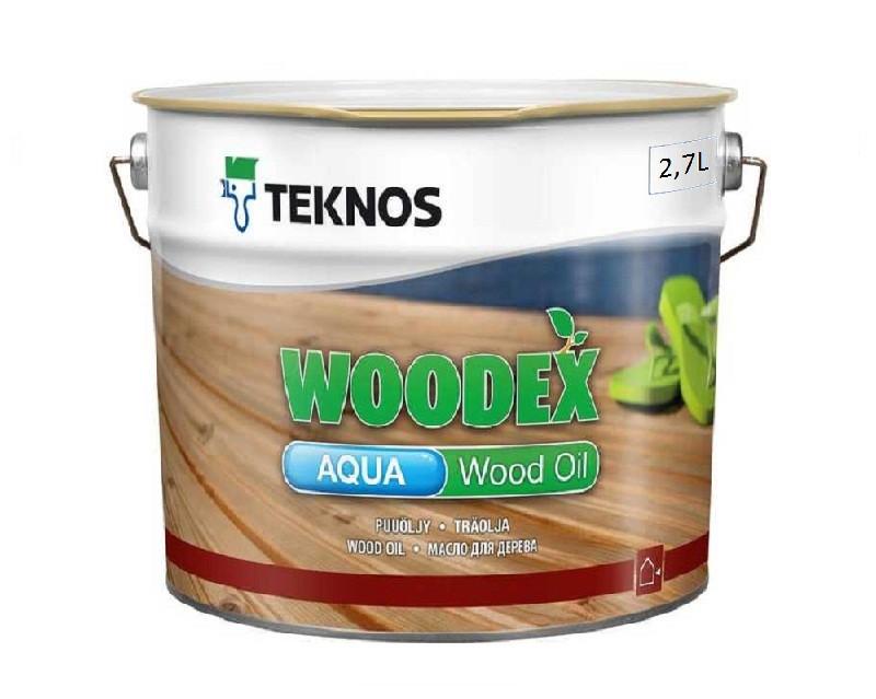 Масло воднодисперсионное TEKNOS WOODEX AQUA WOOD OIL  для древесины 2,7л