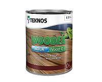 Масло воднодисперсионное TEKNOS WOODEX AQUA WOOD OIL  для древесины 0,9л