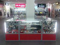 Витрины алюминиевые для косметики и парфюмерии