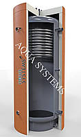 Теплоаккумулятор с одним теплообменником из нержавеющей стали (верх или низ) серии AQS-T1SS-100