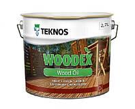 Масло органоразбавляемое TEKNOS WOODEX WOOD OIL  для древесины 2,7л