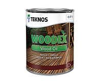 Масло органоразбавляемое TEKNOS WOODEX WOOD OIL  для древесины 0,9л