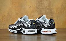 Мужские кроссовки Nike Air Max TN Black/White/Grey, Найк Аир Макс ТН, фото 2