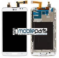 Оригинальный дисплей (Модуль) + Сенсор (Тачскрин) для LG D680 G Pro Lite | D682 G Pro Lite Dua (Белый) + Рамка