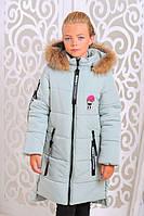 Стильная куртка для девочки Доминика лед