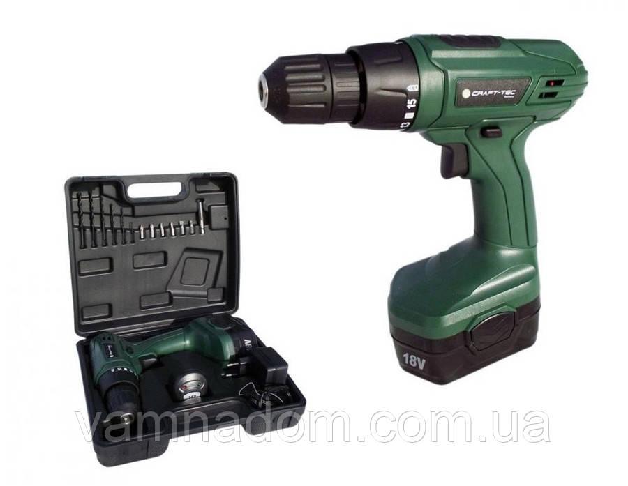Шуруповерт аккумуляторный Craft-tec PXCD 210 18-1-3H