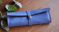 """Шкіряний пенал для канцелярії """"Dep"""" кожаный чехол для ручек, кожаный пенал, ручної роботи, натуральна шкіра"""