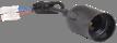 Ппл27-04-К52  Патрон підвісний з шнуром, пластик, Е27, черный (50 шт), стикер на изделии, IEK