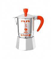 Кофеварка мока Bialetti Break на 3 чашки, оранжевая ручка