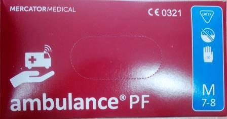 Рукавиці латексні Амбуланс M Ambulance PF (25пар/уп)