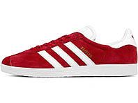 Мужские кроссовки Adidas Gazelle Scarlet / White