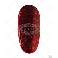 Гель-лак Koto №218 (ярко-красный с блестками) 5мл.