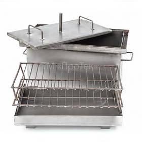 Коптильни горячего копчения, жарочные тарелки бытовые