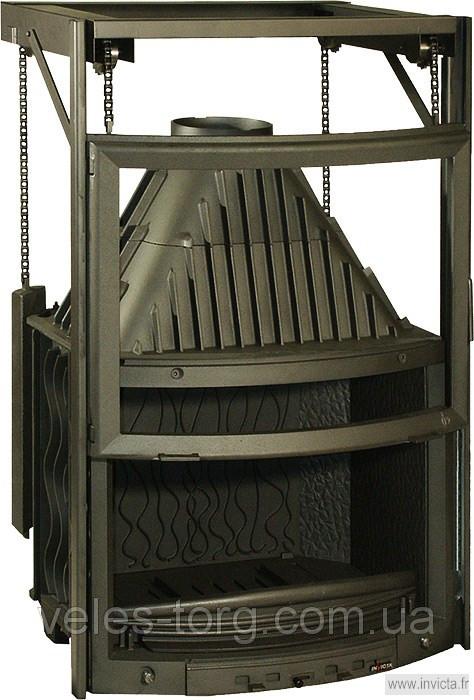 Каминная топка Invicta 800 Panoramique с подъемной дверцей 14 кВт