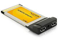 Контролер ноутбука,PCMCIA 32b->USB2.0 A,x2 CardBus,Standart,чорний