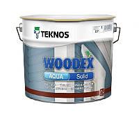 Краска антисептическая TEKNOS WOODEX AQUA SOLID для деревянных фасадов белая (база 1) 2,7л