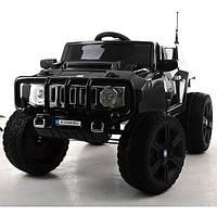 Детский электромобиль джип Hummer M 3570 EBLR-2, мягкие колеса и кожаное сиденье